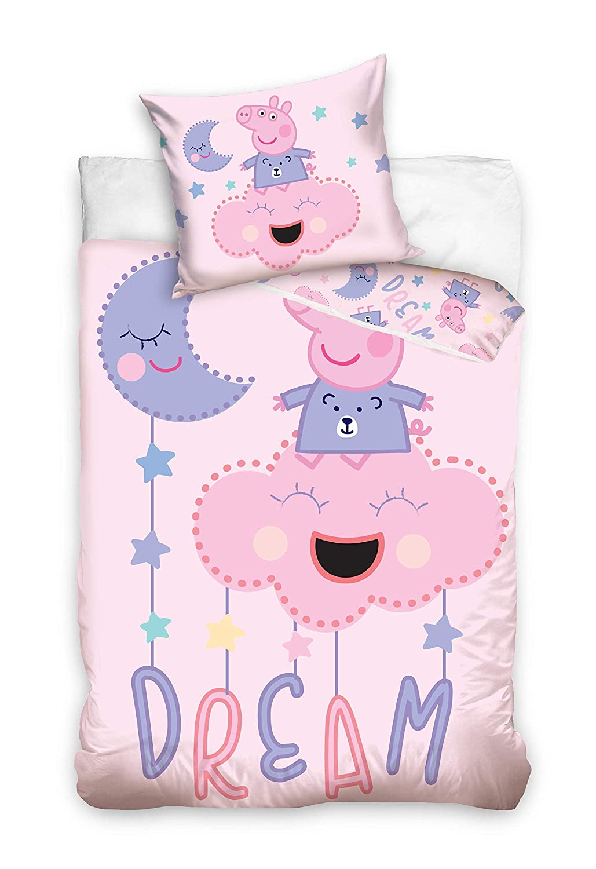 Familando Peppa Pig Peppa - Juego de Cama para bebé (100 x 135 cm ...