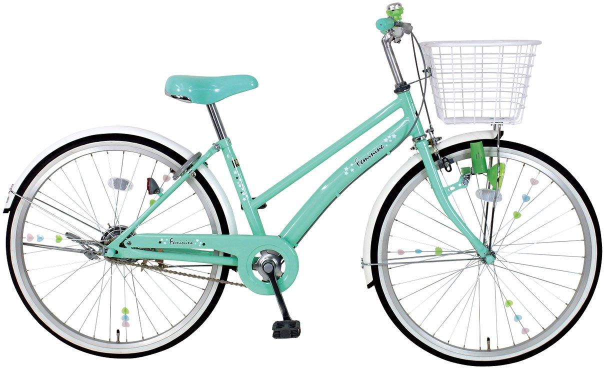 C.Dream(シードリーム) フェミニン FM21 22インチ自転車 子供自転車 グリーン 100%組立済み発送 B0148OT3WE