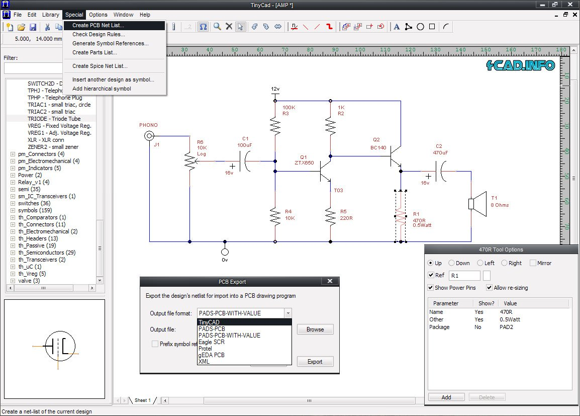 Electrical Cad Drawing Circuit Diagrams Maker Tinycad Pc Pro 4000 Thermostat Wiring Diagram On Best Program Software