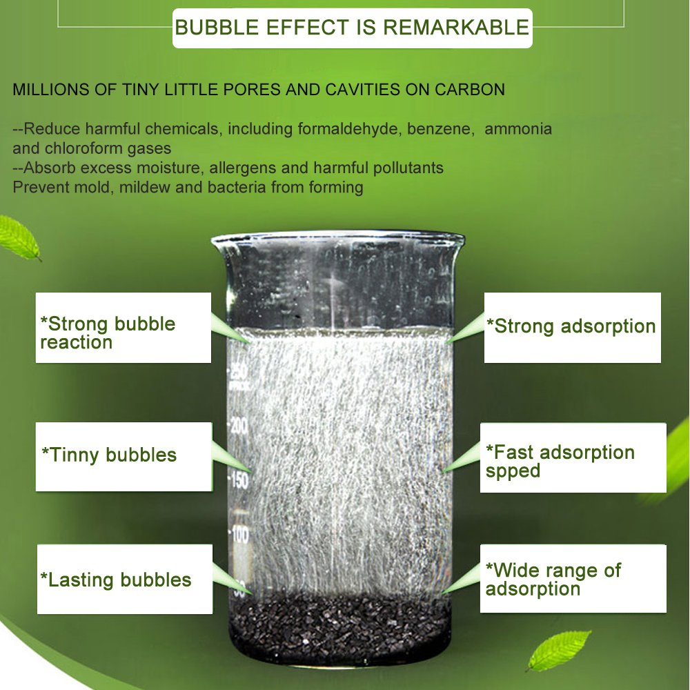 HUANLEMAI 4-Pack x 250g Natural Activated Moso-Bamboo Charcoal Air Purifying Bags, Fragrance Free, Chemical Free, Odor Eliminator Dehumidifier Purifier Absorb Moisture for Home, Kitchen, Closet, Car by HUANLEMAI (Image #5)