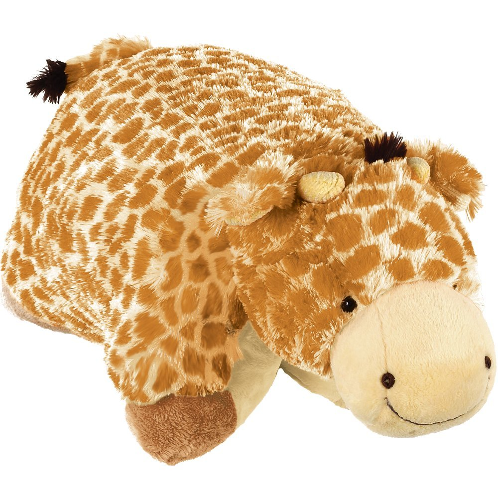 Pillow Pets Authentic Jumbo Giraffe - 30'' Jumbo Folding Plush Pillow