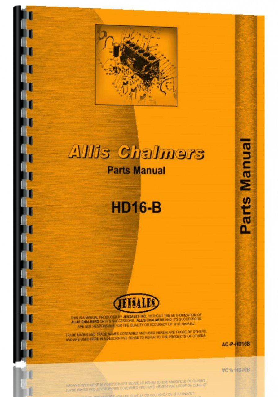 Allis Chalmers HD16B Crawler Parts Manual pdf epub