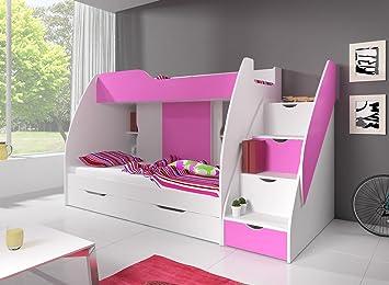 Etagenbett Rosa : Ticaa hochbett rosa mit vorhang cm bewertungen