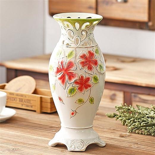 Jarrón de cerámica blanca minimalista moderno salón para centros ...