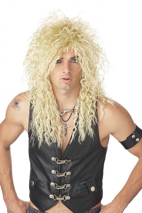California Costumes Men's Headbanger Wig, Blonde,One Size