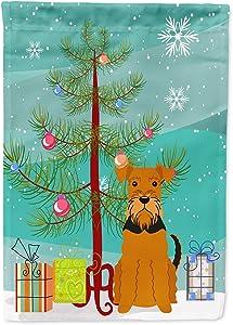 Caroline's Treasures BB4166GF Merry Christmas Tree Airedale Flag Garden Size, Small, Multicolor