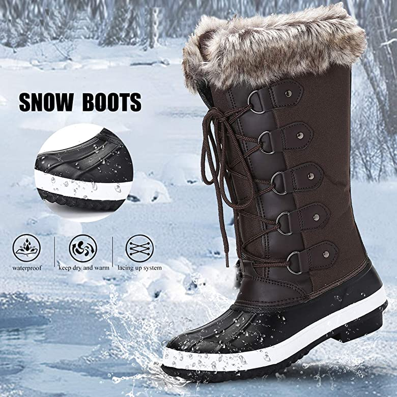 Men/'s Winter Boots Warm Thicken Mid Calf Length Snow Boot Outdoor Platform Size
