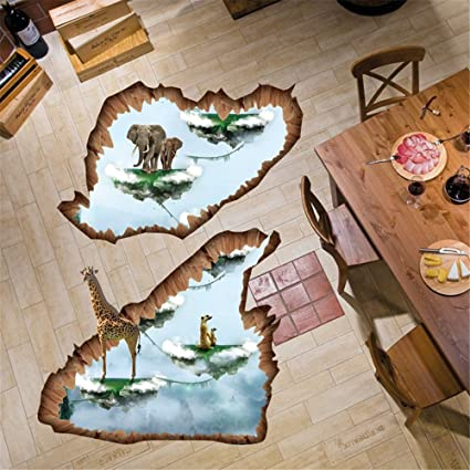 amazon com 3d floating island wall stickers for bedroom living room