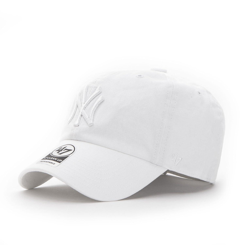 47 Brand New York Yankees Clean Up Strapback Cappello - Taglia unica - all white B-RGW17GWSNL-WHD