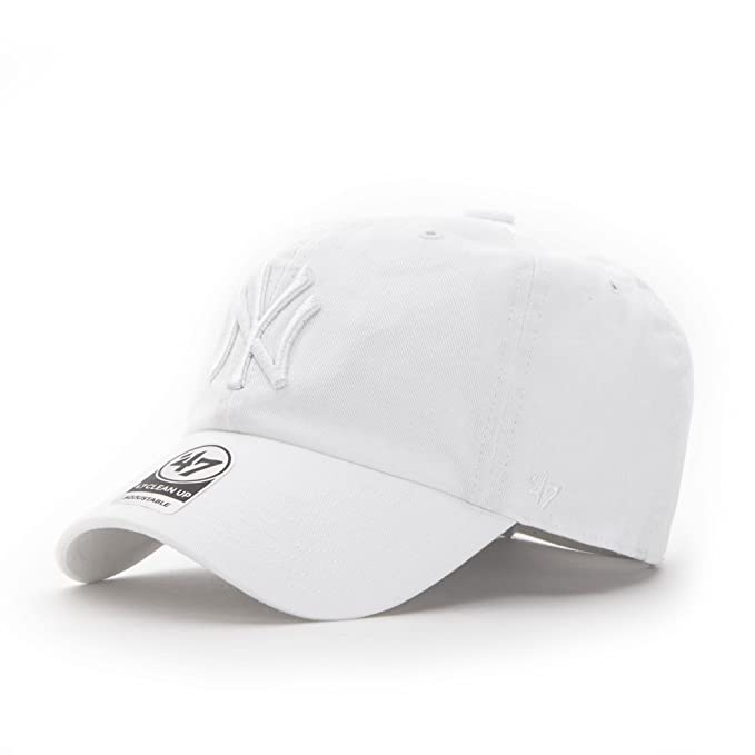 47 Brand New York Yankees Clean Up Strapback Gorra - talla única - all white: Amazon.es: Ropa y accesorios