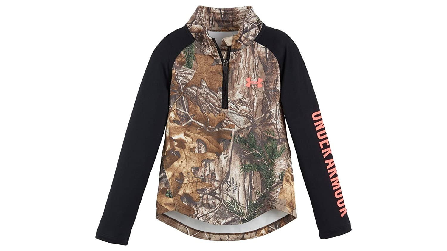 e72e4206732d Amazon.com  Under Armour Little Girl`s Realtree Camo 1 4-Zip Pullover   Clothing