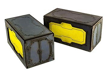 War World Gaming Industry of War Versandbeh/älter x 2-28mm Markierungssteine Tabletop Gel/ände Sci-Fi Necromunda Infinity 40k