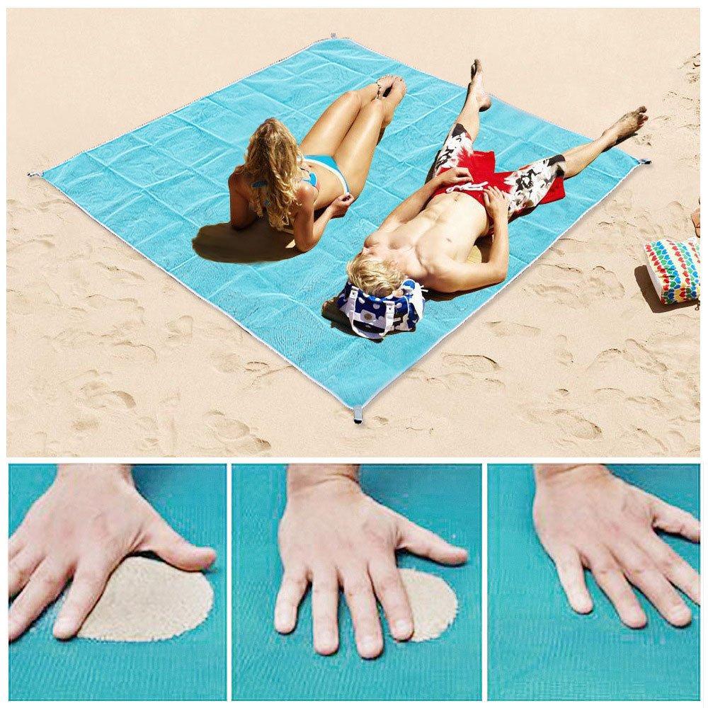 Sand Proof Blanket Sand Free Beach Mat Fast Dry Waterproof Ultra Portable Lightweight Compact Large Beach Towel