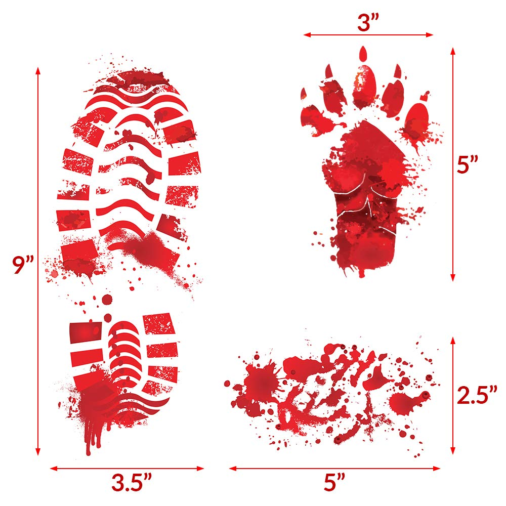 Key Largo Traders Bloody Footprints Set Of 50 Floor Clings
