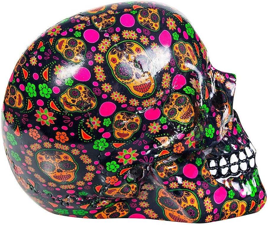 Multicoloured Nemesis Now Viva Skull Figurine 19cm Multicoloured