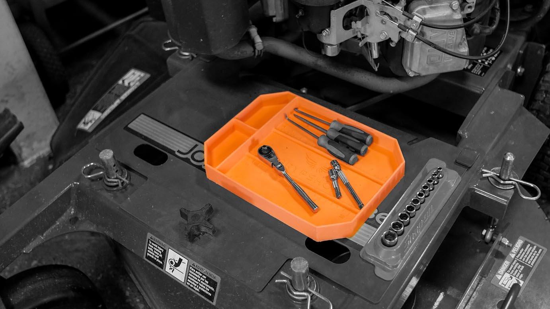 Grypmat | Non-Slip Flexible Orange Tool Tray | Tool Box Organizer | Socket Organizer | Tool Holder | Tool Mats | No Magnets | Easy Clean Up | As Seen On Shark Tank (Medium) by Grypshon (Image #9)