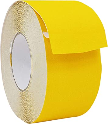 EONBON Anti Slip Tape Yellow 2 Inch x 32.8 Feet Anti Skid Safety Grit Non Slip Tape Wheelchairs Ramps Boats Non Skid Indoor and Outdoor Safety Track Tape For Stairs Steps