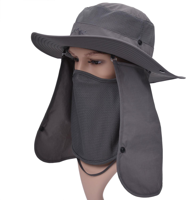 Zoylink Cappelli Maniche a Bretella per Uomo Outdoor Hat Pesca Resistente al Sole Removibile Aletta sul Collo