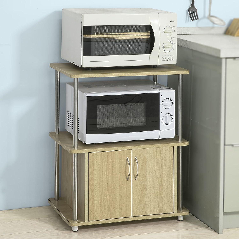 SoBuy® FRG11-N Meuble Rangement Cuisine Étagère de Cuisine Micro-Ondes