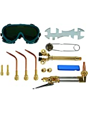 YaeTek 12PCS Oxygen & Acetylene Torch Kit Welding & Cutting Gas Welder Tool Set with Welding Goggles