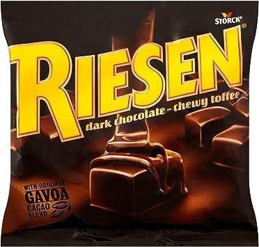 Riesen Dark Chocolate Chewy Toffee 135 g (Pack of 15): Amazon.es ...
