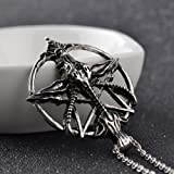 COLORFUL BLING 1Pcs Pentagram Pan God Skull Goat