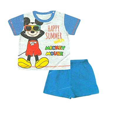 a1a2dbfd68 TuddyBuddy Loungewear T-shirt & Bottom Clothing Set for Baby Boys - Mickey,  100% Cotton
