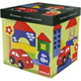 Goula - 50202 - Jouet Premier Age - Boîte 25 Bloques Construction + Voiture