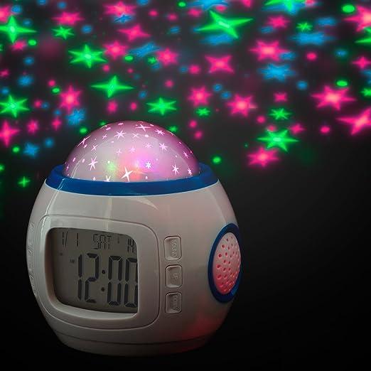 Reloj digitaLCD despertador - Proyector de estrellas para la ...