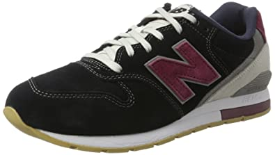 New Balance 996 Suede, Formateurs Homme, Rouge (Black with Red), 44.5 EU