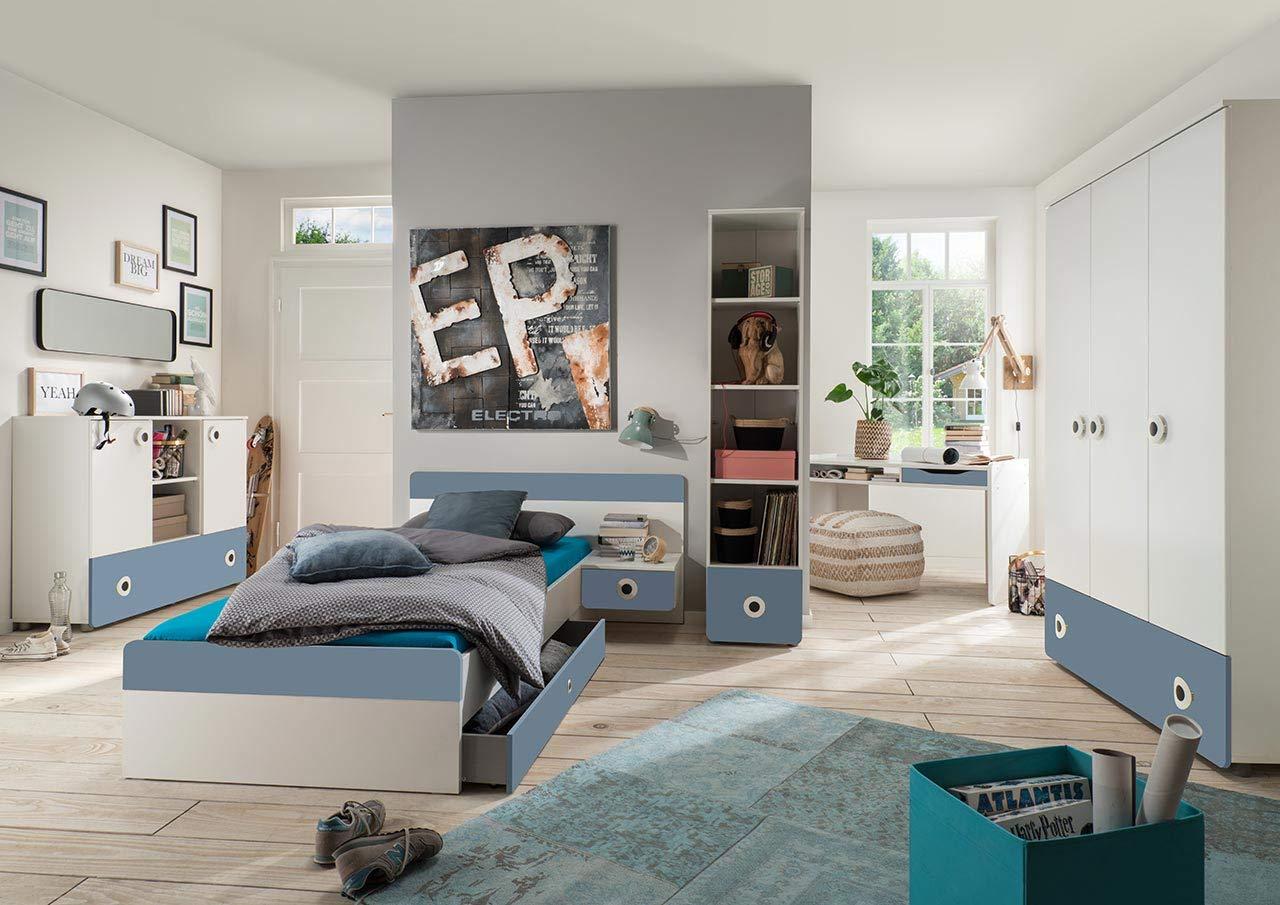 lifestyle4living Jugendzimmer Komplett-Set in weiß und ...
