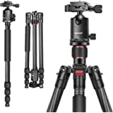 Neewer Carbon Fiber 66 inches/168 centimeters Camera Tripod Monopod with 360 Degree Ball Head,1/4 inch Quick Shoe Plate,Bag f