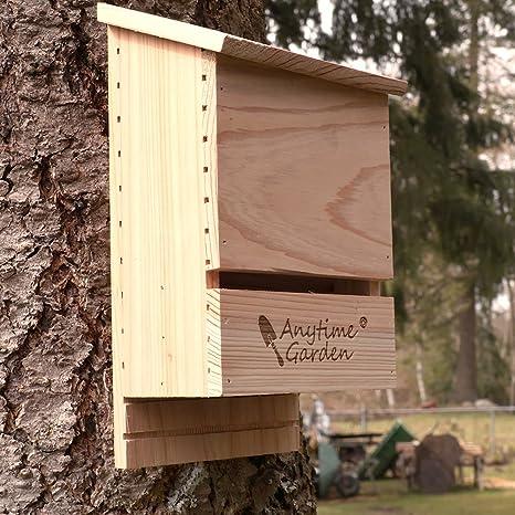 Casa para Murciélagos - Madera de Primera Calidad para el Control Ecológico de Mosquitos y Ácaros: Amazon.es: Hogar