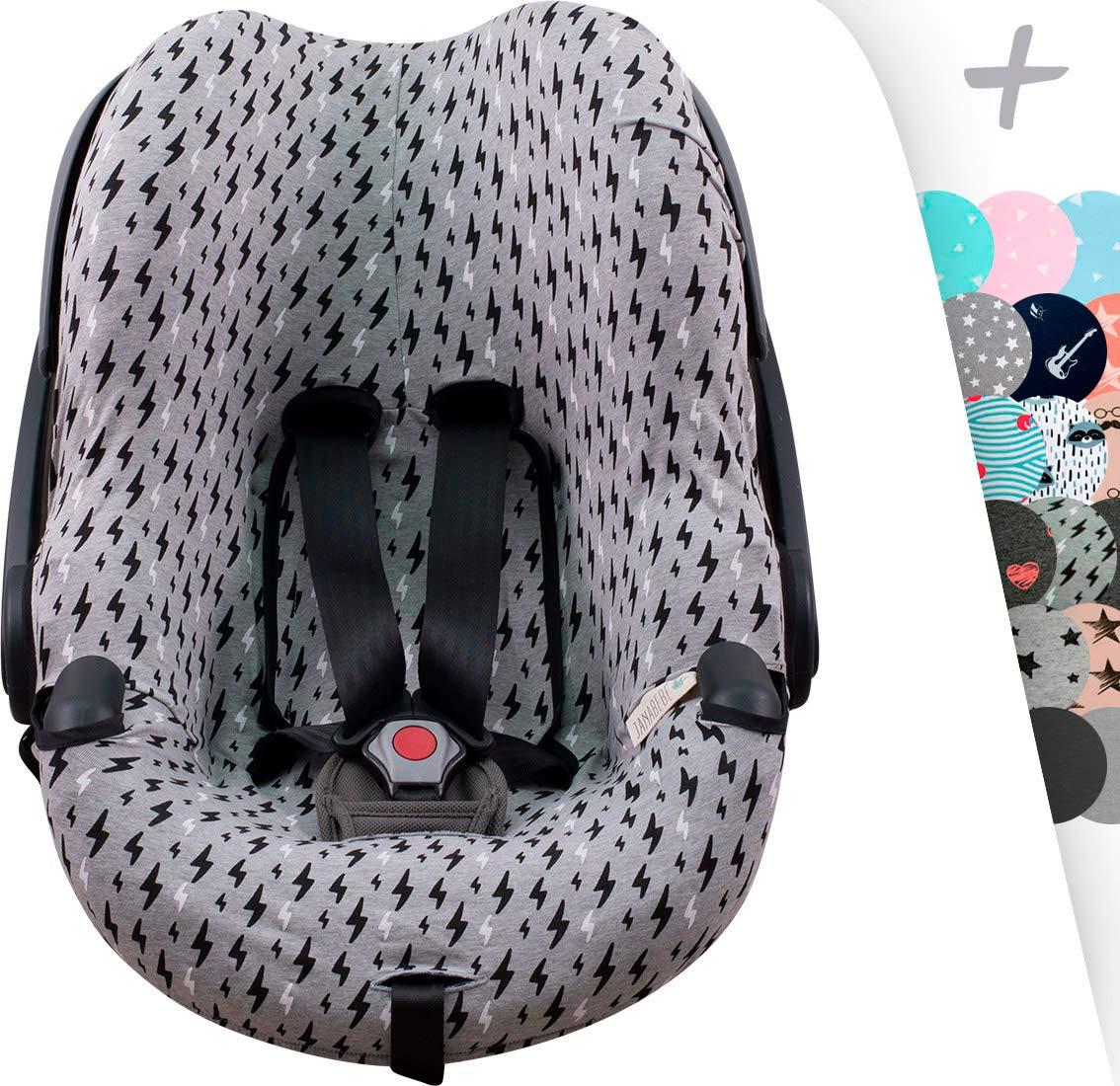 JANABEBE Funda para silla de auto BeSafe iZi Go (Black Rayo)