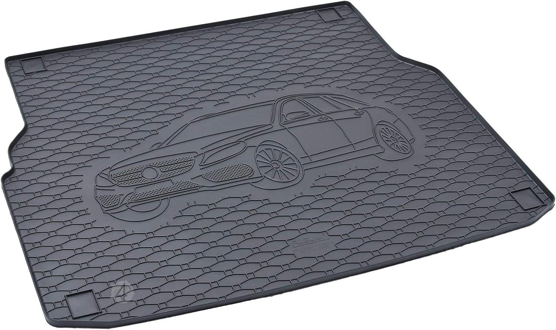 Passgenau Kofferraumwanne Geeignet Für Mercedes C Klasse S205 Ab 2014 Ideal Angepasst Schwarz Kofferraummatte Gurtschoner Auto