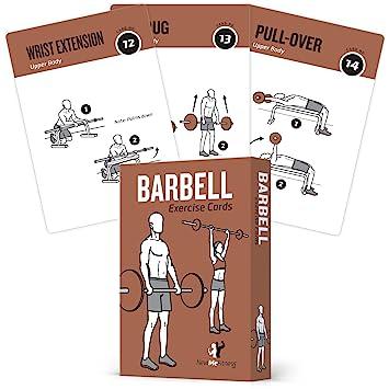 Pesas ejercicio tarjetas por newme Fitness – contiene 50 ejercicios de pesas – Total cuerpo workout