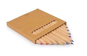 Holz naturbelassen 24 Buntstifte Malstifte 18 cm