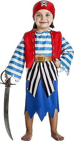 Disfraz de Pirata Niña (1-2 años): Amazon.es: Juguetes y juegos