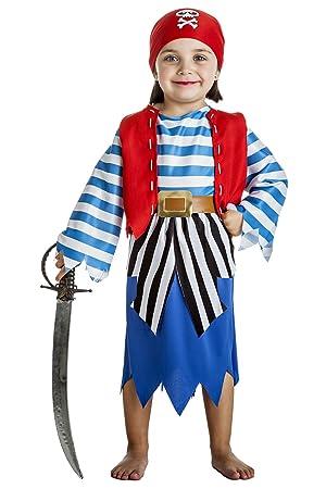Disfraz de Pirata Niña (3-4 años): Amazon.es: Juguetes y juegos