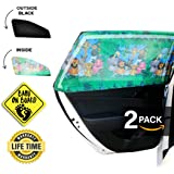 CAR Side Window Sun Shade (2 Pack) | Protects Your Babies and Kids from The Sun/UV Rays by up to 98% | Fits Most Models…