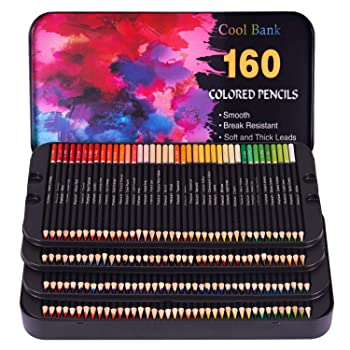 COOL BANK 160-Color Colored Pencils