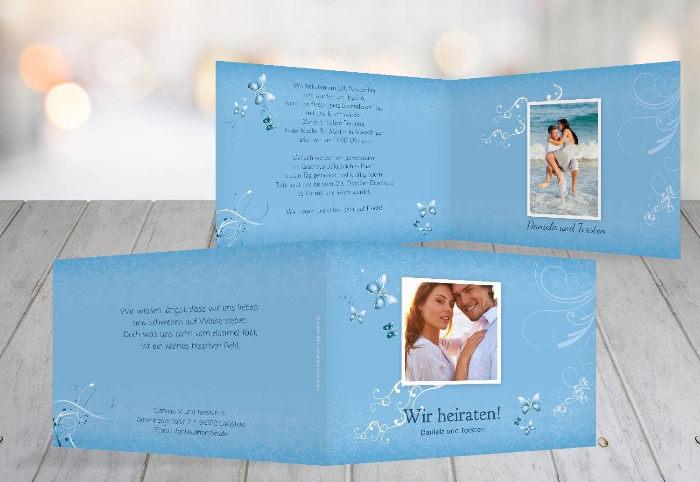 Kartenparadies Kartenparadies Kartenparadies Hochzeitskarte Hochzeit Einladung butterfly, hochwertige Einladung zur Heirat inklusive Umschläge   10 Karten - (Format  148x105 mm) Farbe  Lila B01N6TC92O | Ausgezeichnetes Preis  | Hervorragende Eigenschaften  | Auf Verkauf  bf4535