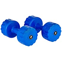 Amazon Brand – Symactive PVC Shell Dumbbells For Home Gym, Set of 2, 3 Kg