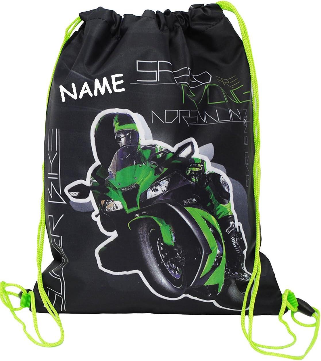Unbekannt Sportbeutel Turnbeutel f/ür Kinder incl Ninja Schulb.. Schuhbeutel /_/_  Motorrad Kawasaki ZX-10R Namen wasserfest // wasserabweisend /& abwischbar