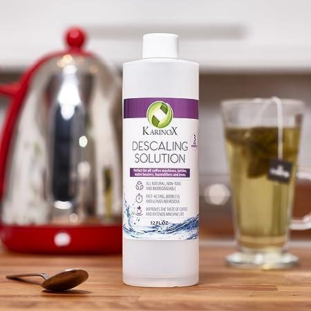 karinox acción rápida solución antical de máquina de café | Biodegradable, sin olor descalcificador, no-residue descalcificador para máquinas de café ...