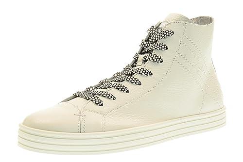 58f8bb0301785 Hogan Rebel Scarpe Uomo Sneakers Alte HXM1410Q402BTV9999 R141 Taglia 40  (6.5) Bianco  Amazon.it  Scarpe e borse