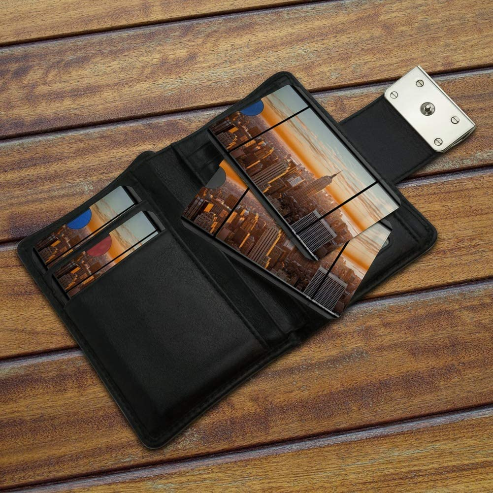 New York Skyline Sunset Penthouse Suite View Credit Card RFID Blocker Holder Protector Wallet Purse Sleeves Set of 4