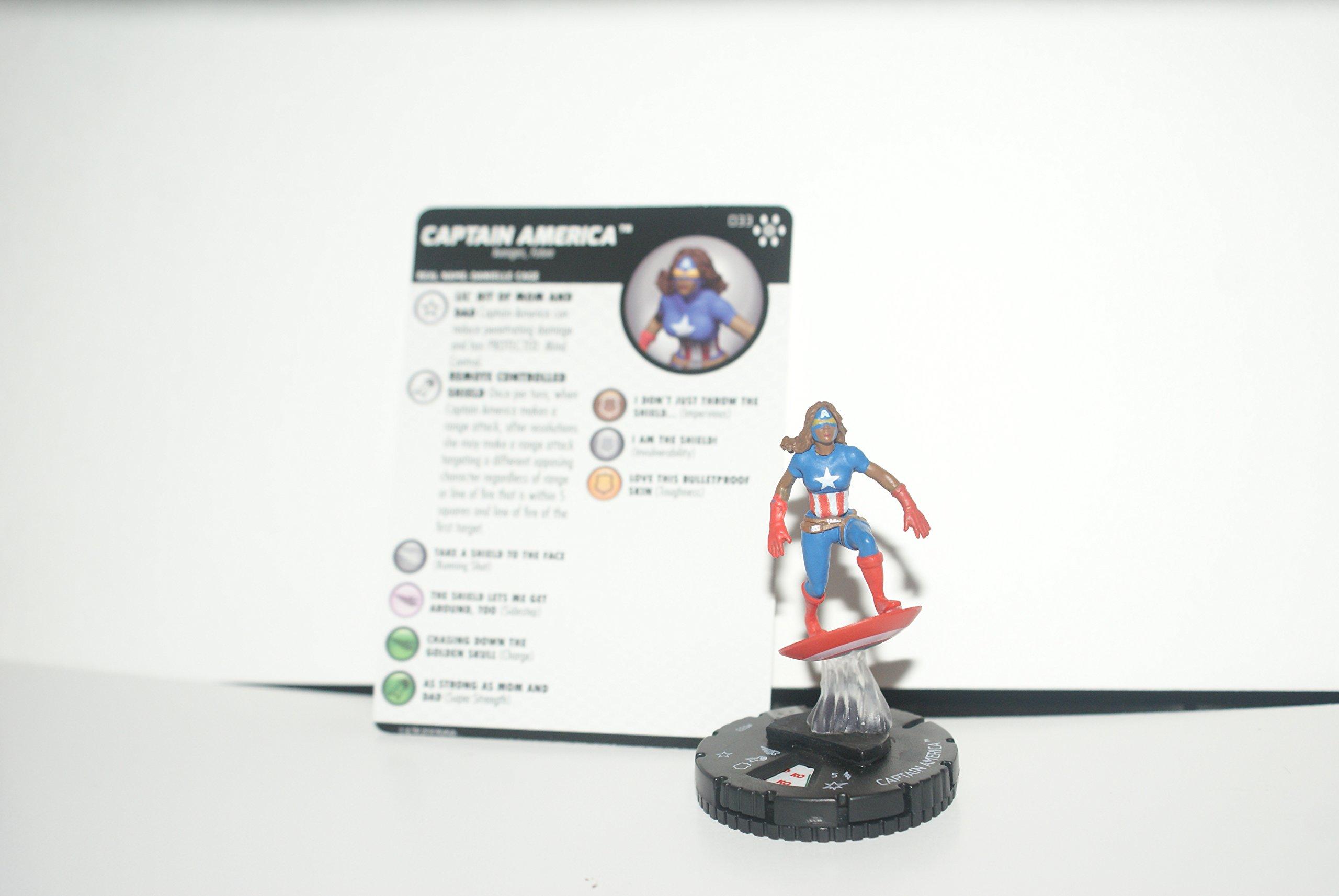 Heroclix Avengers Infinity Captain America #033 Rare w/Card
