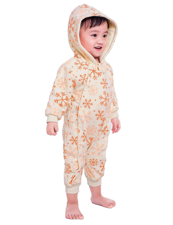 Teeker Baby Winter Romper Long Sleeve Hoodie Jumpsuit Festival Baby Outfit