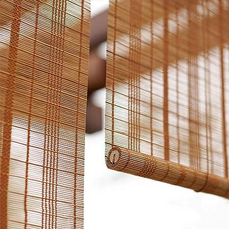 FF Estores enrollables Al Aire Libre de Cortinas enrollables de Madera con Ganchos, Blackout Cortinas enrollables for Pergola Gazebo Patio Porche Terraza, Ancho 60/80/100/120/140 (Size : 100×240cm): Amazon.es: Hogar